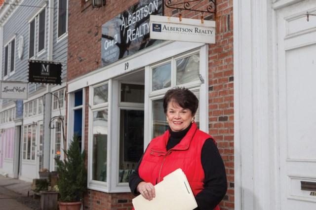 KATHARINE SCHROEDER PHOTODiane Dunbar outside her Greenport office.