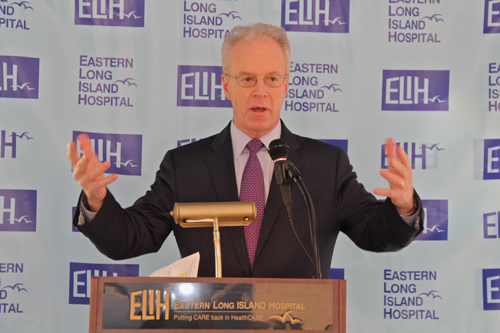 Paul Connor, president and CEO of ELIH, spoke about the impact of the remodel. (Credit: Carrie Miller)