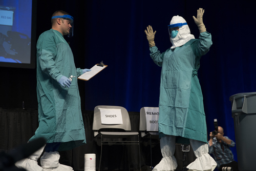 An Ebola education session was held on Oct.21 in New York City. (Credit: Flickr/GovernorAndrewCuomo)