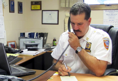 SAMANTHA BRIX FILE PHOTO | Martin Flatley was appointed Southold Town police chief in June 2011