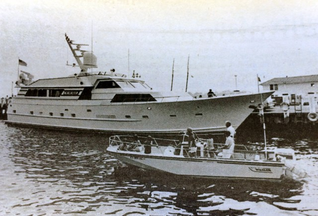 This was not Frank Sinatra's yacht, but wherever it showed up people thought it was. (Credit: Judy Ahrens, file)