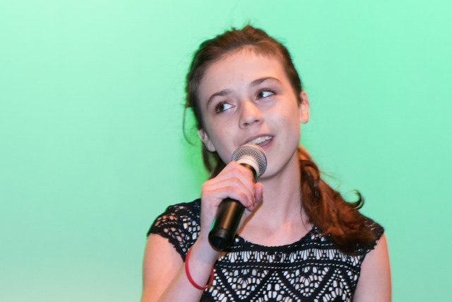Julianna Conway sings Thinking Out Loud. (Credit: Cyndi Murray)