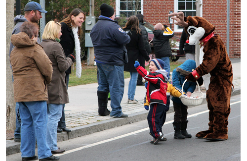 Candy may be handed out but not thrown during parades in Southold Town. (Katherine Schroeder file photo)