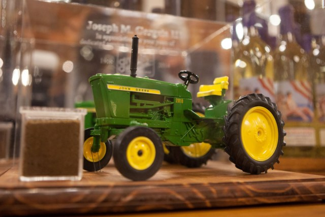 The tractor and soil. (Credit: Katharine Schroeder)