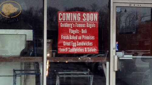 RACHEL YOUNG PHOTO | Goldberg's Famous Bagels is scheduled to open at the Mattituck Shopping Plaza at the site of the former North Fork Bagel Co.