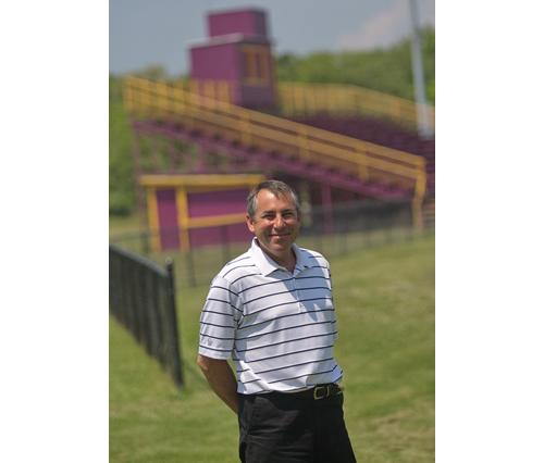 GARRET MEADE PHOTO   Rob Costantini, who has served as Greenport's athletic director for over 15 years, will retire at the end of this month.