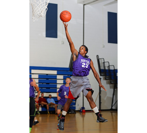 Darrius Strickland, a junior guard, is one of Greenport's biggest talents. (Credit: Daniel De Mato)