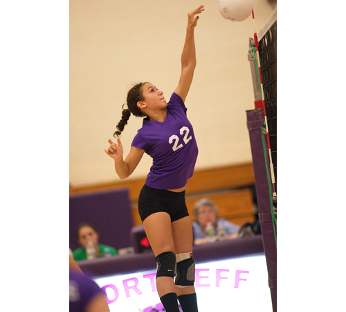 GARRET MEADE FILE PHOTO | Greenport/Southold sophomore Marina DeLuca, an all-league outside hitter, is one of the top players for a team in transition.