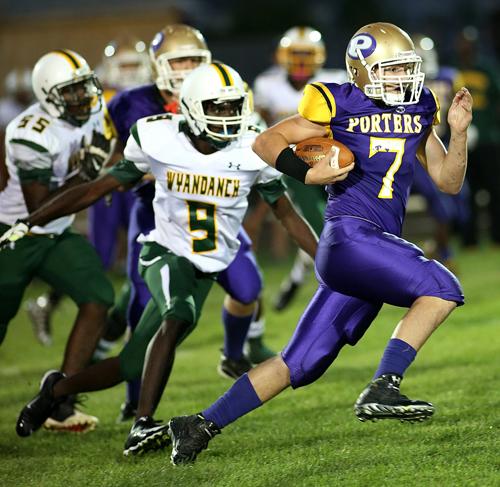 Greenport:Southold:Mattituck football player Keegan Syron 082616