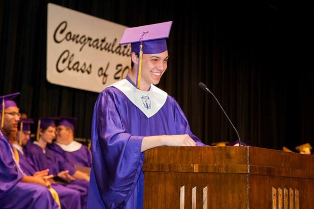 Valedictorian Liam Lieblein. (Credit: Katharine Schroeder)