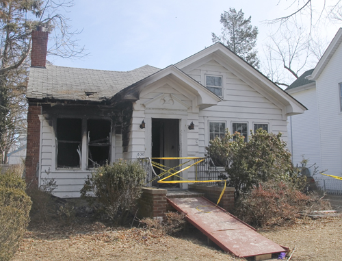 The dining room of the Pollack home was charred black Thursday morning. (Credit: Paul Squire)
