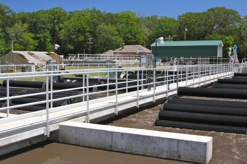 JENNIFER GUSTAVSON FILE PHOTO | The Greenport Village sewage treatment plant.