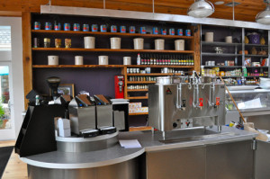 RACHEL YOUNG FILE PHOTO | The coffee bar that had been set up for the market's re-opening in late June.