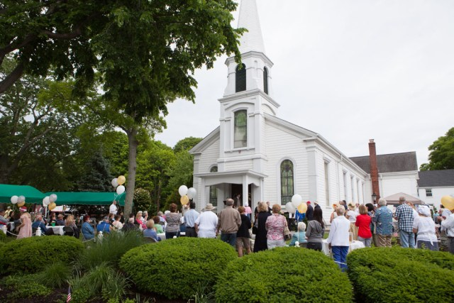 The party at the church.
