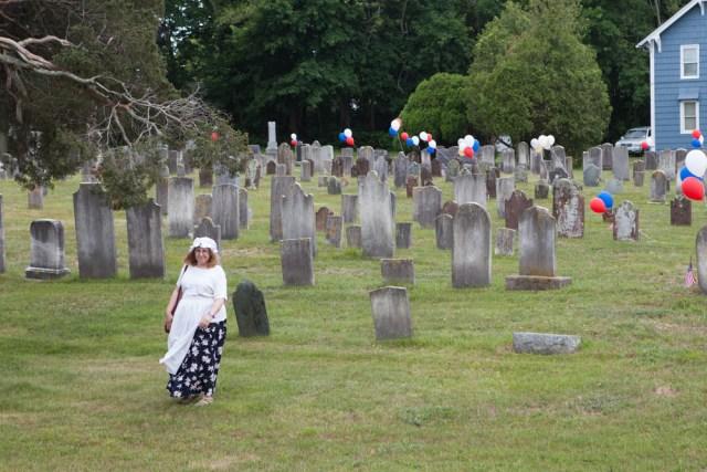 Irene Raico of Laurel tends to the church grounds.