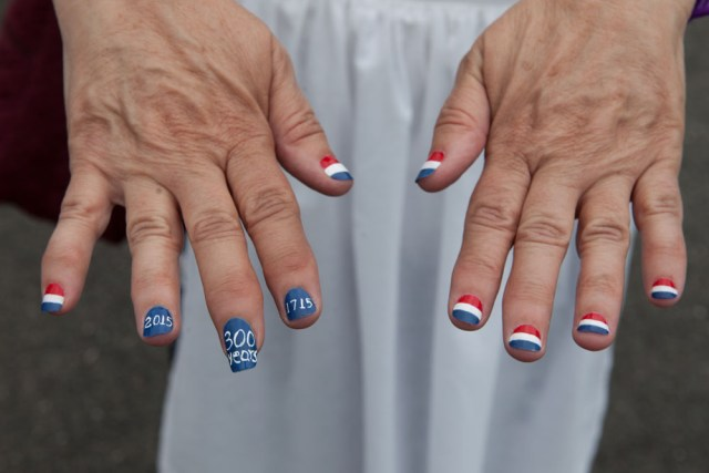 Ms. Raico of Laurel shows off her anniversary nails.