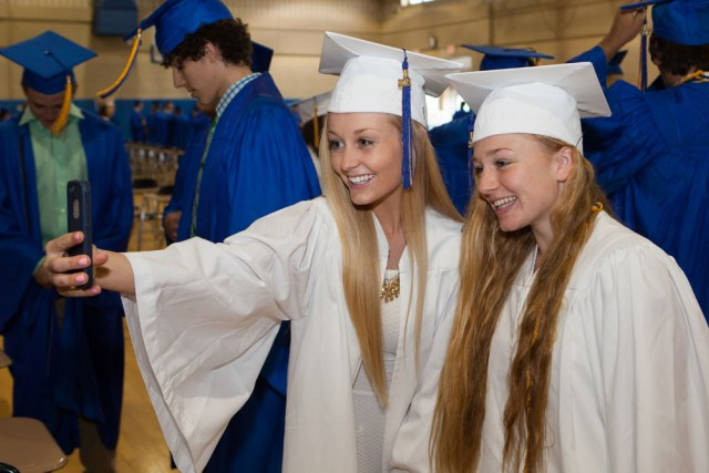 Victoria Ireland and Abby Graeb, who have been friends since 1st grade. (Credit: Katharine Schroeder)