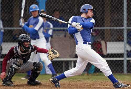 James Nish connected for a tie-breaking home run for Mattituck in the sixth inning of its 6-2 defeat of Southampton. (Credit: Daniel De Mato)