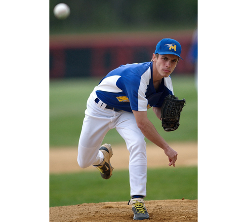 Joe Tardif pitches in a game earlier this year. (Credit: Garret Meade)