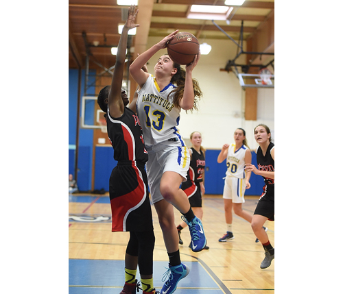 Mattituck basketball player Liz Dwyer 022016