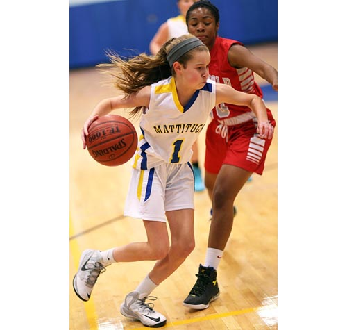 Mattituck freshman point guard Mackenzie Daly has been getting playing experience in her first varsity season. (Credit: Garret Meade, file)