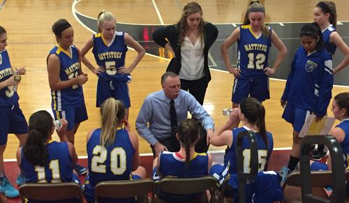 Mattituck girls basketball coach Steve Van Dood 020116