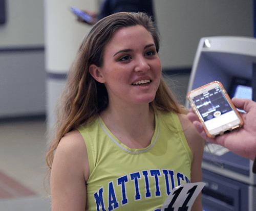 Mattituck runner Melanie Pfennig 021417