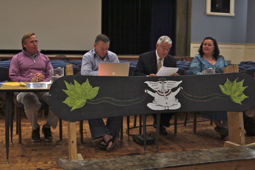 JENNIFER GUSTAVSON PHOTO | The Mattituck school board met Thursday night and discussed facility improvement plans.