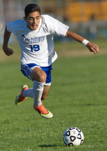GARRET MEADE PHOTO   Mattituck junior forward Kaan Ilgin assisted on the winning goal, put 3 of his 4 shots on goal and completed 21 of 29 passes.