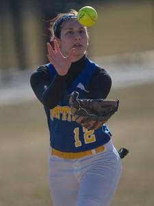 GARRET MEADE PHOTO | Mattituck shortstop Melissa Siegfried keeping focused on the ball.