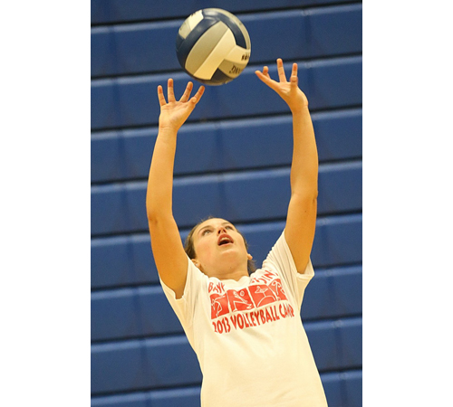 Junior setter Carly Doorhy is one of Mattituck's five returning starters from last year. (Credit: Garret Meade)