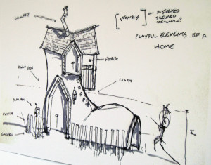 A conceptual drawing from architect Jake Gamberg.