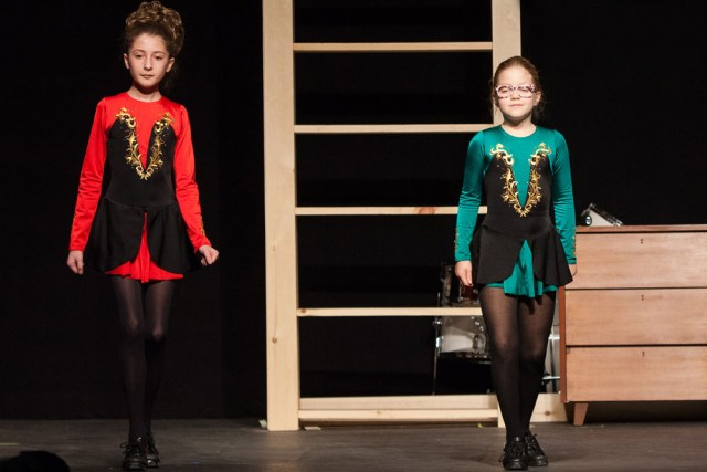 """Naomi Cichanowicz and Maeve Bailey dance to """"Right on Time Reel."""""""