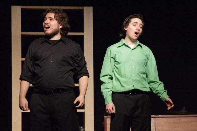 "Alex and John Bradley perform ""Agony."""