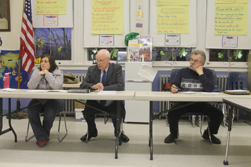SUFFOLK TIMES FILE PHOTO | Members of the New Suffolk Board of Education.