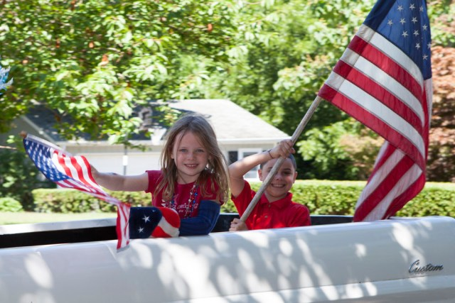 The New Suffolk Fourth of July parade was Saturday. (Credit: Katharine Schroeder)