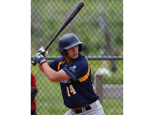 Peter Papcun, who leads the Hamptons Collegiate Baseball League with five home runs, will represent North Fork in the league's first Home Run Derby. (Credit: Daniel De Mato, file)