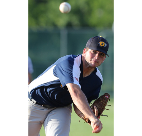 DANIEL DE MATO PHOTO   North Fork pitcher Anthony Rosati earned his first win of the season, allowing Riverhead six hits over six innings.