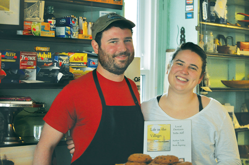 Orient Country Store owners Grayson Murphy and Miriam Foster set out to fool the entire community this year. (Credit: Cyndi Murray)