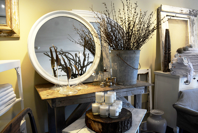 Some of the refined items for sale at Pearl Cottage in Southold. (Credit: Monique Singh-Roy)