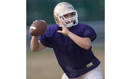 Matt Drinkwater, a returning starter at quarterback and linebacker, was an all-league first team selection last year. (Credit: Garret Meade)