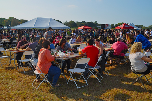 Last year's Pour the Core hard cider festival in Cutchogue. (Credit: Cyndi Murray, file)