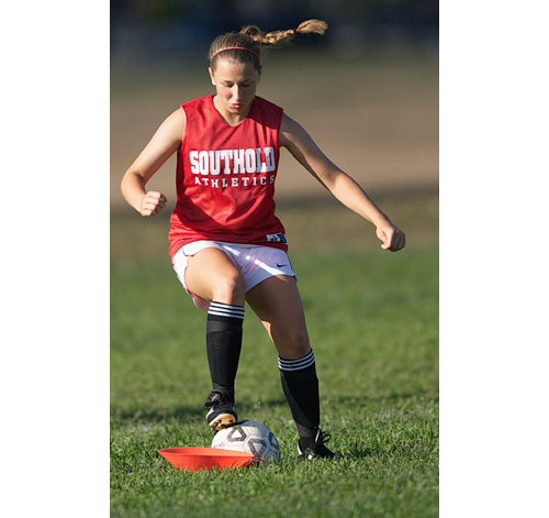 "Southold/Greenport junior Rosemary Volinski is a ""very versatile"" player, according to coach Vaughn Locascio. (Credit: Garret Meade)"