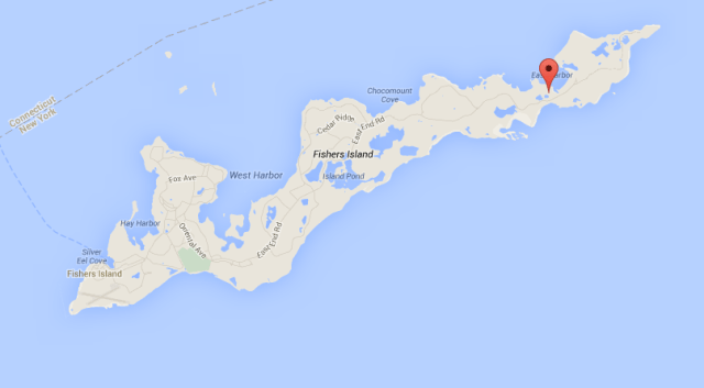 State police say a 22-year-old man who was driving drunk crashed on Fishers Island last week. (Credit: Google Maps)