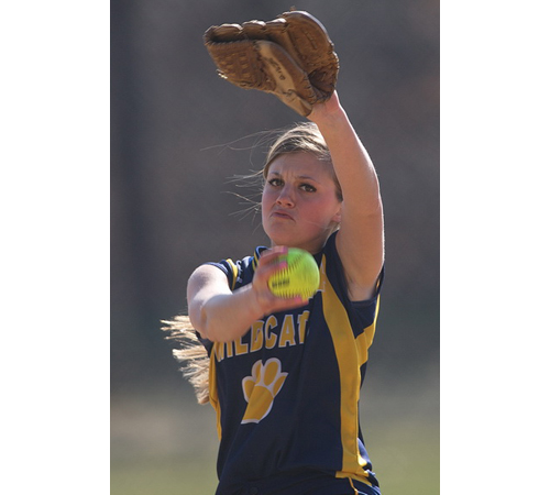 GARRET MEADE PHOTO | Shoreham-Wading River's all-time strikeout leader, Chelsea Hawks, recently tied her school record for strikeouts in a game (20). She fired 15 strikeouts against Mattituck on Friday.