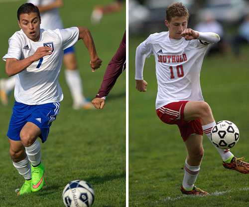 Mario Arreola (left) and Shayne Johnson will lead their respective teams into county championship games today. (Credit: Garret Meade)