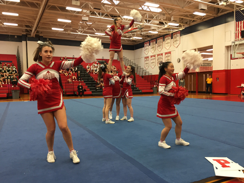 Southold cheerleaders 012817