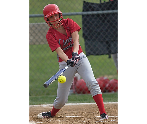 GARRET MEADE FILE PHOTO | Nicole Busso, a senior first baseman, has been a regular starter for Southold/Greenport since the second game of her freshman season.