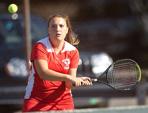 GARRET MEADE FILE PHOTO | Southold/Greenport has only seven varsity players, including Alexandra Small, who is expected to play first singles.
