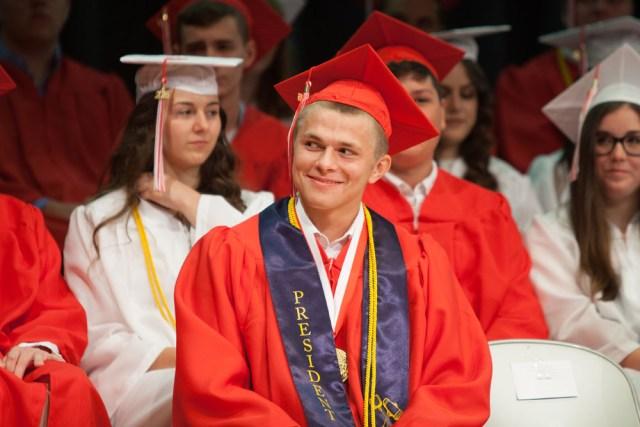 Valedictorian Aidan Walker. (Credit: Katharine Schroeder)